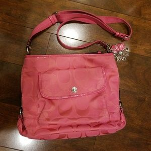 Coach coral crossbody purse